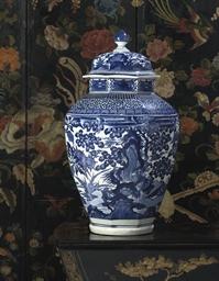 An Arita Octagonal vase