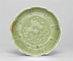 An Arita Celadon dish