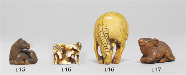 Three Ivory Netsuke
