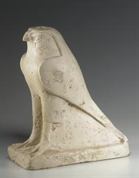 AN EGYPTIAN LIMESTONE HORUS FA