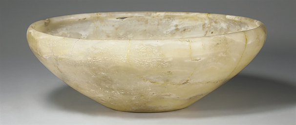 AN EGYPTIAN ALABASTER BOWL