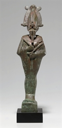 AN EGYPTIAN BRONZE OSIRIS