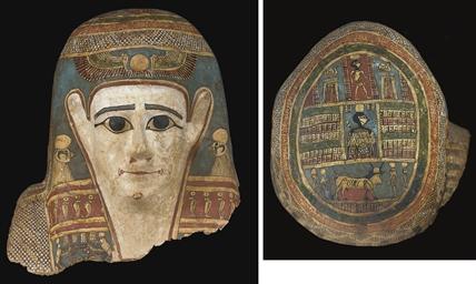 AN EGYPTIAN CARTONNAGE MUMMY M