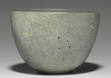 A SYRIAN GREEN STONE BOWL