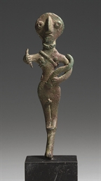 A CANAANITE BRONZE WARRIOR GOD