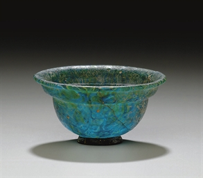 A ROMAN MOSAIC GLASS PATELLA