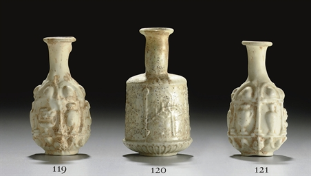 A ROMAN GLASS BOTTLE