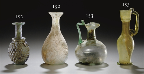 A ROMAN AND A BYZANTINE GLASS