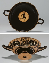 AN ATTIC BLACK-FIGURED EYE-CUP