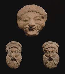 THREE GREEK TERRACOTTA APPLIQU