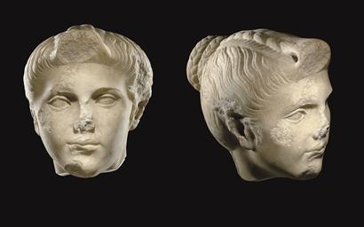 A ROMAN MARBLE PORTRAIT OF A G