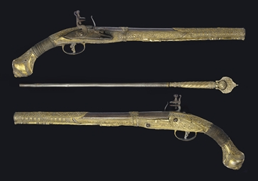 A PAIR OF GREEK FLINTLOCK HOLS