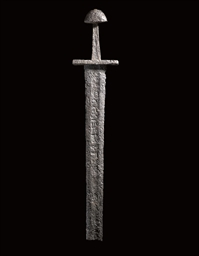 A VERY RARE VIKING SWORD, THE BLADE WITH ULFBERHT INSCRIPTION