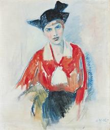 Portrett av dame i rødt (Portr