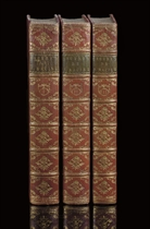 RACINE, Jean Baptiste (1639-99).  Oeuvres.  Paris: de l'imprimerie de F.A. Didot l'ainé, 1783.  3 volumes, 4° (293 x 221mm).  Engraved vignette on titles (a few leaves lightly browned). Contemporary red morocco gilt, sides with narrow roll-tool border, spines elaborately gilt in compartments, green morocco lettering-pieces, inner dentelles, gilt edges (spines very lightly sunfaded, one or two small scuff marks).