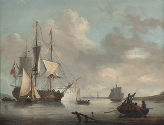 A British frigate announcing h
