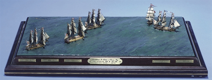 A finely detailed diorama of '