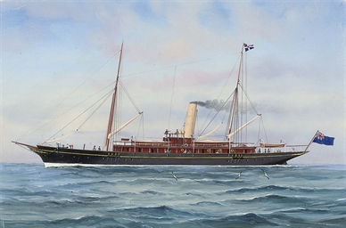 The British steam yacht Rosabe
