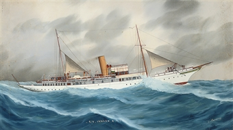 the royal thames yacht club's steam yacht <i><b>ianara</b></i>