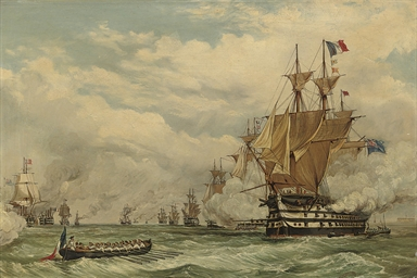 The Anglo-French Allied fleet