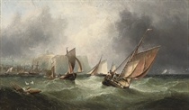 The fishing fleet off Scarborough