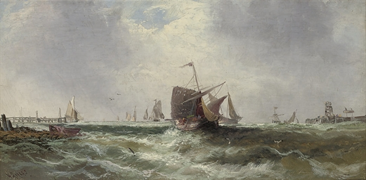 The returning fishing fleet; a