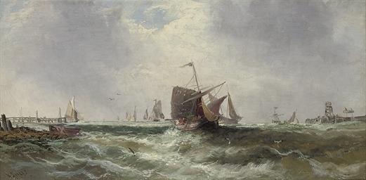 The returning fishing fleet; a