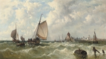 A breezy day off the Low Countries