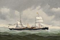 The Belgian steamer Amélie bound for Spain