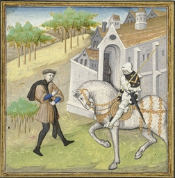 LIONEL ARRIVING AT A MONASTERY
