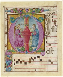 ANNUNCIATION, in an initial M,