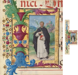 ST DOMINIC, in an initial I, c