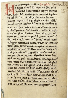 ROBERT PULLEN (d.1146): Sermones de communibus sanctorum , in Latin, DECORATED MANUSCRIPT ON VELLUM