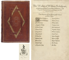 [SHAKESPEARE, William (1554-1616). Comedies, Histories, and Tragedies, edited by John Heminge (d. 1630) and Henry Condell (d. 1627). London: Isaac Jaggard, and Ed[ward] Blount, 1623].