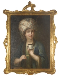 A beauty with turban holding a