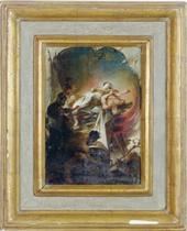 The martyrdom of a saint - a modello