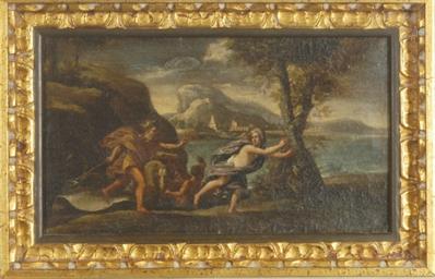 Poseidon chasing a nymph