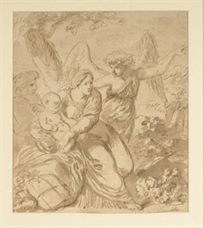Archangel Gabriel leading the
