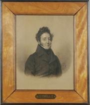 Portrait of a gentleman, half-length, in a black overcoat