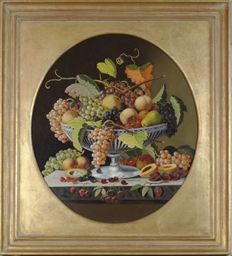 Still life with peaches, grape