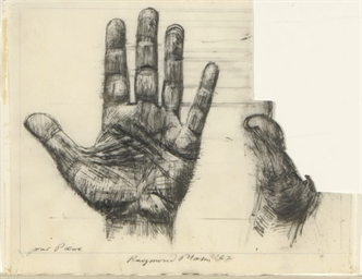 Hand study; and two companion