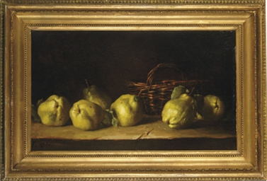 Still life of quinches and a b