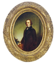Portrait of William Prescott Smith; and a companion portrait of Margaret Anne Smith