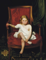 Portrait of a young girl seate