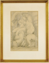 Cubist nudes; and a companion drawing