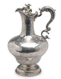 A WILLIAM IV SILVER EWER WITH