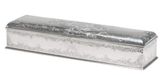 AN AMERICAN SILVER JEWELRY BOX