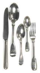 AN ASSEMBLED ENGLISH SILVER FL