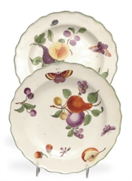TWO ENGLISH PORCELAIN DESSERT