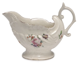 AN ENGLISH PORCELAIN SAUCEBOAT